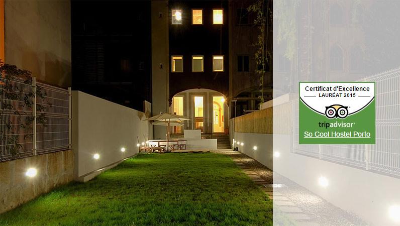 Certificat d'excellence 2015 TripAdvisor - So Cool Hostel Porto